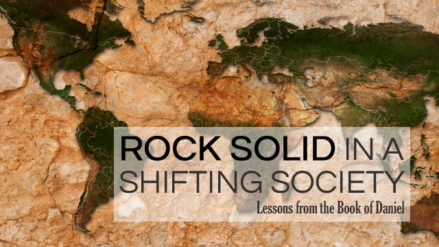 Website slide introducing sermon series by Pastor Rich on the Book of Daniel